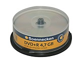 Soennecken DVD+R 70084 16x 4,7GB 120Min. Spindel 25 St./Pack.