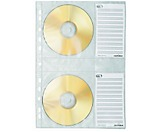 DURABLE CD/DVD Hülle COVER M 522219 PP transparent 5 St./Pack.
