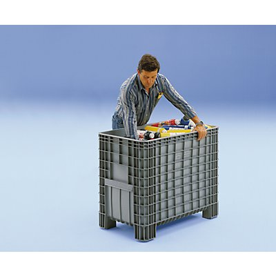 Capp Plast Großbehälter aus Polyethylen - Inhalt 380 l, 4 Füße zum Unterfahren