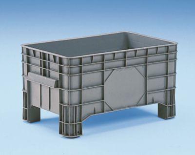 Großbehälter aus Polyethylen - Inhalt 220 l, 4 Füße zum Unterfahren