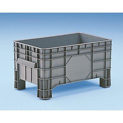 Conteneur grande capacité en polyéthylène - capacité 220 l, 4 pieds avec passages pour fourches