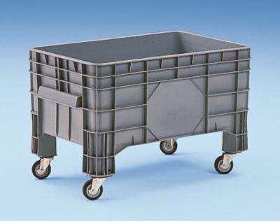Großbehälter aus Polyethylen - Inhalt 220 l, 4 Füße und 4 Lenkrollen