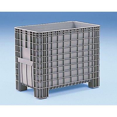 Conteneur grande capacité en polyéthylène - capacité 380 l, 4 pieds avec passages pour fourches