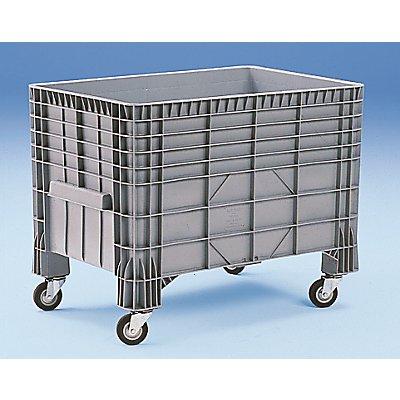 Großbehälter aus Polyethylen - Inhalt 550 l, 4 Füße und 4 Rollen