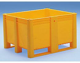 Großbehälter aus Polyethylen - Inhalt 600 l, 2 Kunststoffkufen