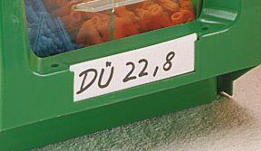 Etiketten - mit transparenter Kunststoffabdeckung