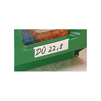 mauser Etiketten - mit transparenter Kunststoffabdeckung