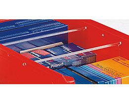 Teiler für Sichtlagerkasten - Querteiler - für Kasten, LxBxH 350 x 210 x 140 mm, VE 10 Stk