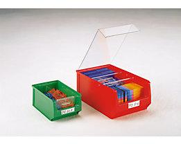 Etiquettes - avec film plastique transparent - pour hauteur 130 mm, lot de 100