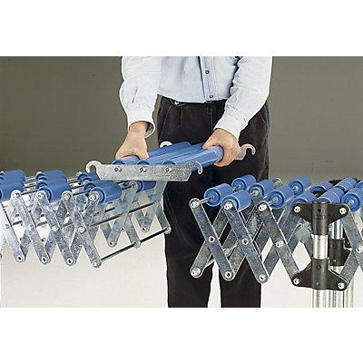 Pièce de jonction - transporteur à rouleaux 300 mm - rouleaux en plastique
