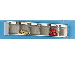 Klappkasten-System - Gehäuse-HxBxT 113 x 600 x 91 mm - 6 Kästen, sandbeige, ab 10 Stk