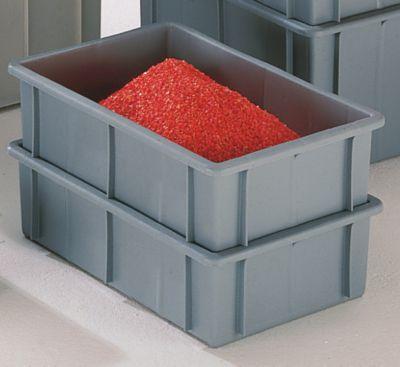 Stapelkasten aus Polyethylen, mit Verstärkungsrippen außen - Inhalt 16 l