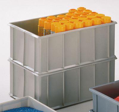 Stapelkasten aus Polyethylen, mit Verstärkungsrippen außen - Inhalt 42 l