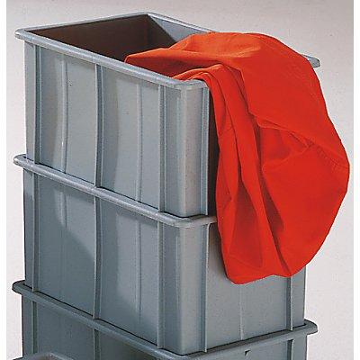Stapelkasten aus Polyethylen, mit Verstärkungsrippen außen - Inhalt 37 l