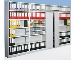Büro-Steckregal, ohne Rückwand - Regalhöhe 2600 mm - Anbauregal, Breite x Tiefe 760 x 400 mm