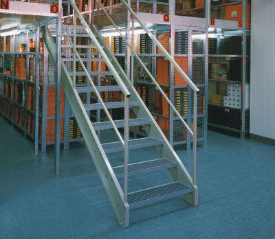 hofe Lager-Schraubregal, verzinkt, mittelschwer - Regalhöhe 2000 mm, Bodenbreite 1300 mm