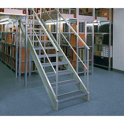 hofe Lager-Schraubregal, RAL 7035, mittelschwer - Regalhöhe 3000 mm, Bodenbreite 1300 mm