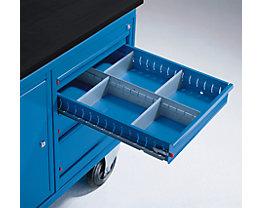 Schubladeneinteilungs-Set - für 4 Schubladen - 48, 78, 108, 168 mm hoch