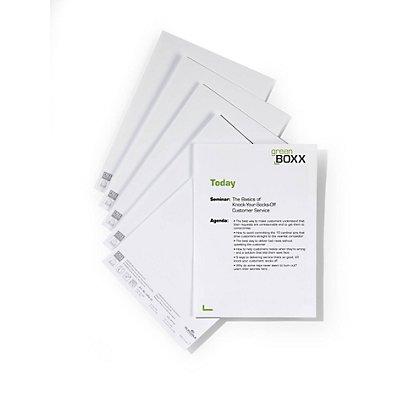 Durable Cartes de rechange pour enseigne de table - pour h x l 105/201 x 297 mm - lot de 100