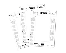 Durable Cartes de rechange pour enseigne de table - pour h x l 61/122 x 210 mm - lot de 100