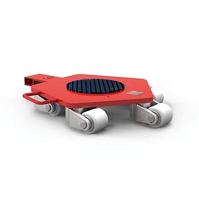 Rotationsfahrwerk - Tragfähigkeit 6000 kg, LxBxH 760 x 560 x 118 mm