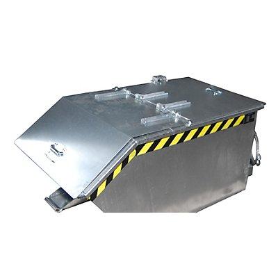 Klappdeckel - für Behälter-Inhalt 0,3 m³ - verzinkt