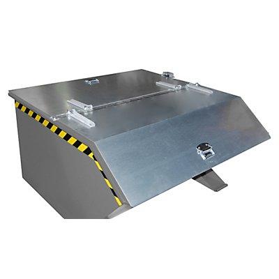 BAUER Klappdeckel - für Behälter-Inhalt 1,0 m³ - verzinkt