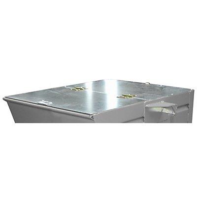 Deckel, verzinkt, für Behälter-Volumen 0,275 m³ zweiseitig zu öffnen