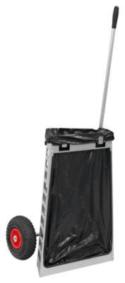 Reinigungswagen mit Luftbereifung - LxBxH 360 x 550 x 1500 mm, Gewicht 8 kg