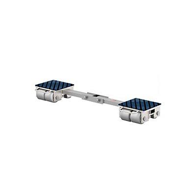 Transportfahrwerk, fest - mit Verbindungsstange und Gelenk