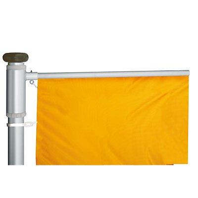 Mannus Fahnenmast aus eloxiertem Aluminium - mit Spezialkurbel, Ø 100 mm, mit drehbarem Ausleger