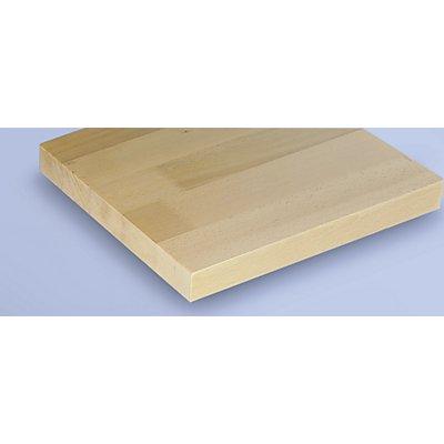 ANKE Werkbank kompakt, Buchemassivplatte - BxT 1140 x 650 mm, 1 Schrank, 3 Schubladen