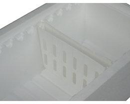 Kühlakku-Halter, Breite 218 mm, VE 4 Stk - für 1 Kühlakku, TxH 27 x 136 mm