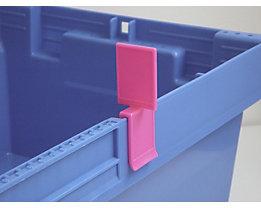 Tourenklammer, VE 20 Stk - schmal POM, S, pink