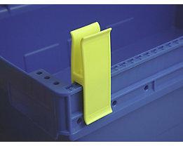 Personalklammer, VE 50 Stk - breit POM, L, signalgelb