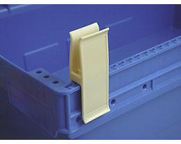 Personalklammer, VE 50 Stk - breit POM, L, beige