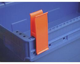Personalklammer, VE 50 Stk - breit POM, L, signalrot