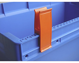 Personalklammer, VE 50 Stk - breit POM, L, verkehrsorange