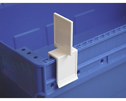 Tourenklammer, VE 20 Stk - breit POM, L, weißblau