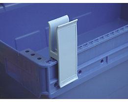 Personalklammer, VE 50 Stk - breit POM, L, signalblau