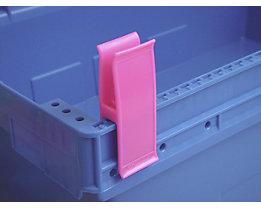 Personalklammer, VE 50 Stk - breit POM, L, pink