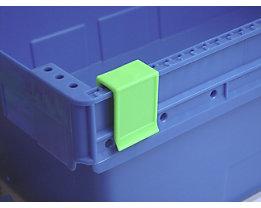 Tourenklammer, VE 20 Stk - breit POM, 1/2 L, signalgrün