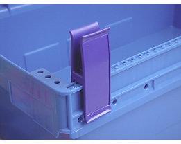 Personalklammer, VE 50 Stk - breit POM, L, lila