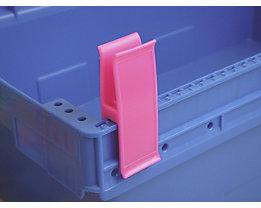 Personalklammer, VE 50 Stk - breit POM, L, violett