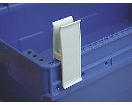 Personalklammer, VE 50 Stk - breit POM, L, weißblau
