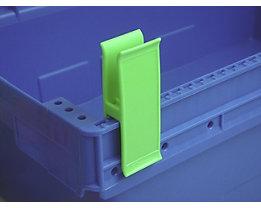 Personalklammer, VE 50 Stk - breit POM, L, signalgrün