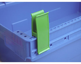 Personalklammer, VE 50 Stk - breit POM, L, grasgrün