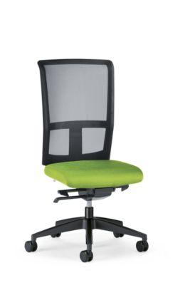 interstuhl Bürodrehstuhl GOAL AIR, Rückenlehnenhöhe 545 mm - Gestell schwarz, mit harten Rollen