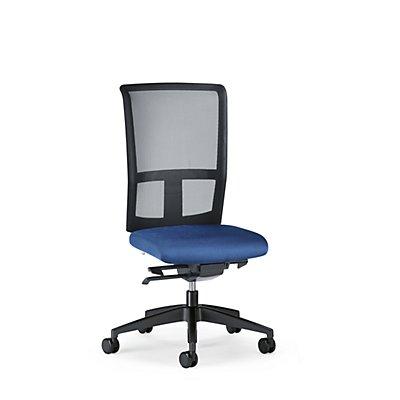 interstuhl Bürodrehstuhl GOAL AIR, Rückenlehnenhöhe 545 mm - Gestell schwarz, mit weichen Rollen