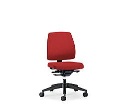 interstuhl Bürodrehstuhl GOAL, Rückenlehnenhöhe 430 mm - Gestell schwarz, mit harten Rollen, Sitztiefe 410 - 460 mm